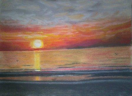 Paysages dessin - Dessin coucher de soleil ...
